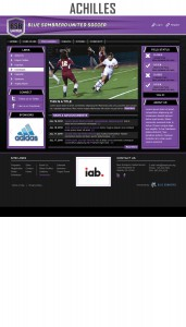 achilles sports website template