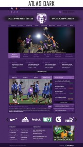 atlas dark sports website template