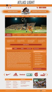 atlas light sports website template