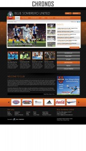 chronos sports website template