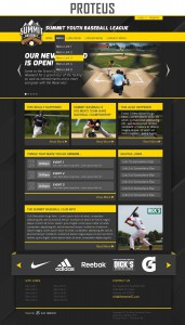 proteus sports website template