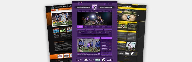 sport website templates