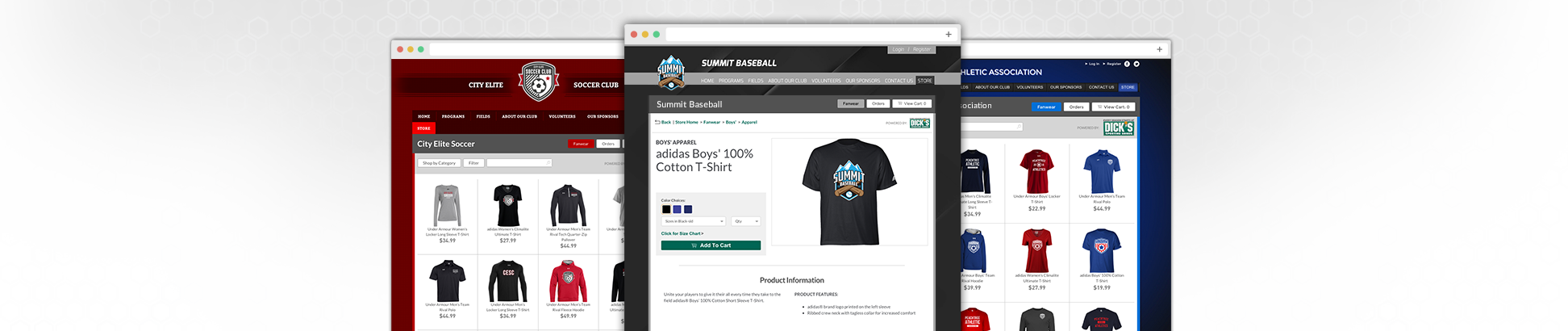 team sports fanwear