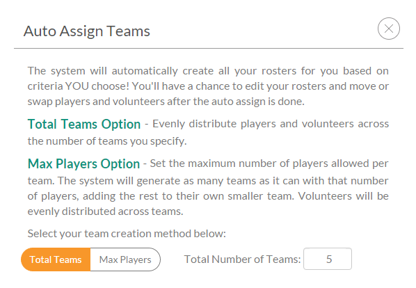 automatic team assignment