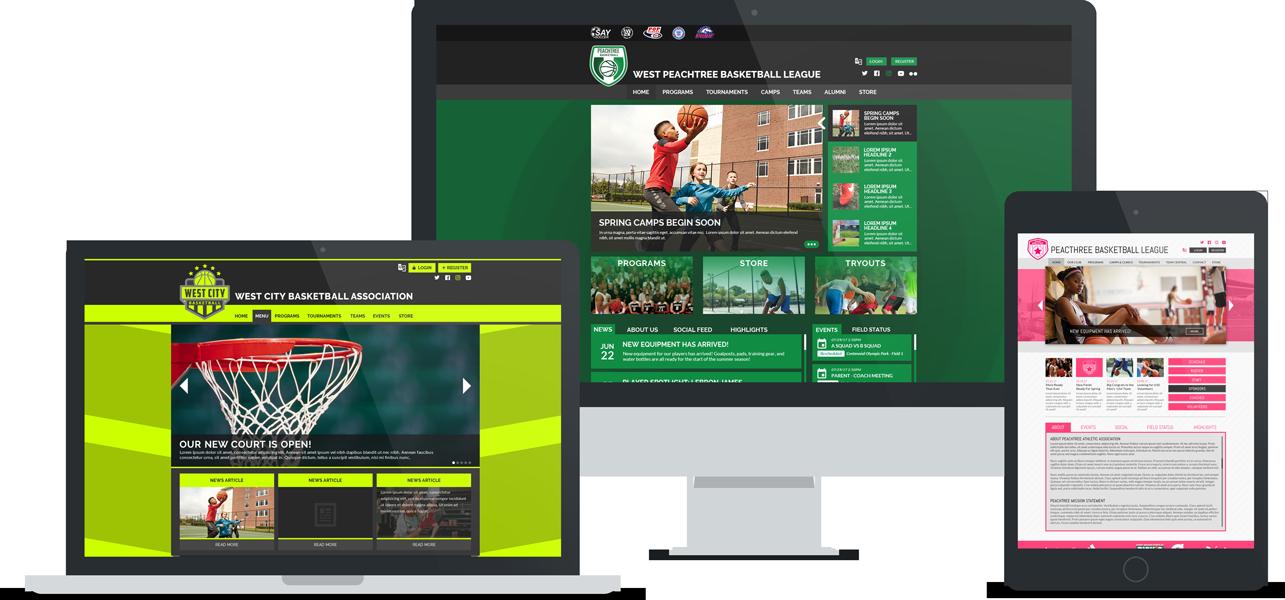 Basketball websites and online registration